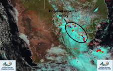 """The weather service issued a warning for heavy downpours and """"localised flooding"""" in parts of Gauteng, Free State, North West, and KwaZulu-Natal on Saturday, 8 February 2020. Picture: Twitter/SA Weather Service"""