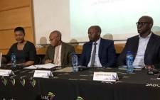 The SABC at a briefing on 5 August 2019 outlining the findings of a report into editorial interference at the public broadcaster. Picture: Thando Kubheka/EWN
