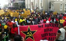 The ANC in the Western Cape organised a service delivery march to the provincial legislature on 13 June 2013. Picture: Shamiela Fisher/EWN