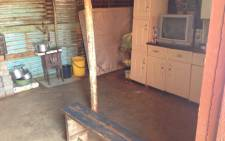 The crime scene where a 14-year-old boy hacked family members to death with an axe in the Etwatwa informal settlement in Johannesburg. 29 May 2013. Picture: Sebabatso Mosamo/EWN
