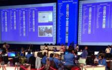 The IEC National Results Centre in Pretoria on 7 May. Picture: EWN.