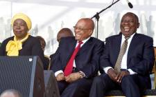 FILE: President Jacob Zuma with Deputy President Cyril Ramaphosa and former AU Chair Nkosaza Dlamini Zuma during the 60th Anniversary of the National Women's Day celebrations at the Union Buildings, Pretoria. Picture: GCIS.
