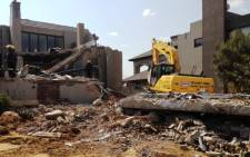 The scene where 7 people were killed in a building that collapsed at the Meyersdal Eco Estate on 18 August, 2014. Picture: Gia Nicolaides/EWN.