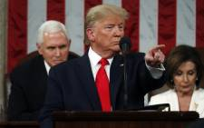 US President Donald Trump delivers the State of the Union address in the House chamber on 4 February 2020 in Washington, DC. Picture: AFP
