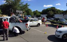 Shootout in Bryanston on 03 February 2015 where two people were injured. Picture: EWN.