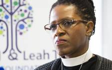 FILE: Desmond Tutu's daughter Mpho briefs journalists on her father's health in Cape Town last month. Picture: Aletta Gardner/EWN.