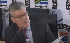 EOH chief executive Stephen van Coller at the state capture commission on Monday, 23 November 2020. Picture: SABC Digital News/Youtube