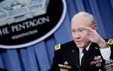 Joint Chiefs of Staff Chairman General Martin Dempsey speaks to the press about the ongoing bombing campaign against militants in Iraq and Syria during a news conference at the Pentagon on 26 September, 2014 in Arlington, Virginia. Picture: AFP.
