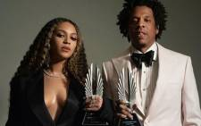 Beyonce and Jay Z pictured with their GLAAD Media Awards. Picture: @beyonce/Instagram