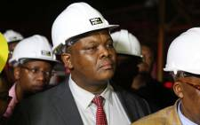 Gauteng MEC for Infrastructure Development Jacob Mamabolo speaks at the Charlotte Maxeke hospital on Thursday 2 March after a part of the roof collapsed injuring 5.  Picture: Christa Eybers/EWN