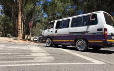"""FILE: A man was arrested for transporting more that double the legal number of occupants in a 15-seater minibus. Picture: Aletta Gardner/EWN """""""