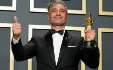 "FILE: Taika Waititi, winner of Best Adapted Screenplay for ""Jojo Rabbit,"" poses in the press room during the 92nd Annual Academy Awards at Hollywood and Highland on 9 February 2020 in Hollywood, California. Picture: AFP"