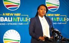 Mbali Ntuli officially announced her decision to run for the leadership role of the Democratic Alliance. Picture: Xanderleigh Dookey/EWN.