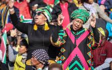 Guests dancing and singing at the inauguration of President-elect Cyril Ramaphosa at Loftus Versfeld Stadium in Pretoria on 25 May 2019. Picture: Abigail Javier/EWN