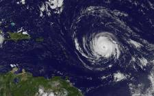 This image obtained from the Nasa's GOES Project shows Hurricane Irma on 4 September 2017. Picture: AFP.