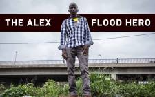 Vincent Khosa, who saved a child from falling into the flood-swollen Jukskei River in Alexandra. Picture: Abigail Javier/EWN