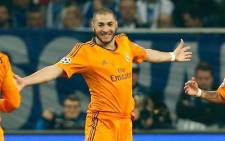 Real Madrid's striker Karim Benzema celebrates after his goal against Schalke 04 in the last 16 first-leg of the EUFA Champions League on 26 February 2014. Picture: Facebook.