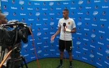 Kaizer Chiefs defender Mario Booyen during Telkom Knockout interviews: Twitter/@KaizerChiefs