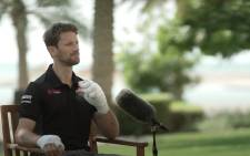 Romain Grosjean speaks to Sky F1 about his Bahrain Grand Prix crash. Picture: YouTube/ Sky Sports F1