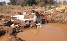 FILE: An illegal mining site in Roodepoort, Gauteng. Picture: Christa van der Walt/EWN