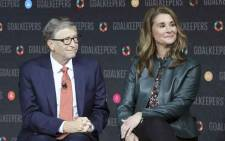 FILE: Bill Gates and Melinda Gates introduce the Goalkeepers event at the Lincoln Center in New York on 26 September 2018. Picture: Ludovic MARIN/AFP