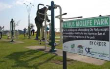 The Petrus Molefe Outdoor Gym in Dlamini Soweto is oversubscribed