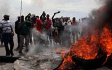 Police said on Tuesday a man died during violent protests in Khayelitsha on Monday night.