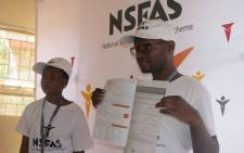National Student Financial Aid Scheme (Nsfas) employees going through the application process. Picture: @myNSFAS/Twitter