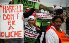 BDS SA attempt to boycott the Pharrell Williams concert in Cape Town. Picture: Anthony Molyneaux/EWN