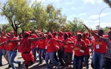 EFF members sing and dance ahead of the opening of the party's inaugural national people's conference on 14 December 2014. Picture: Govan Whittles/EWN.