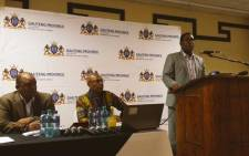 Gauteng Education MEC Panyaza Lesufi addressing the Education Summit in Pretoria. Picture: Gauteng Education @EducationGP.