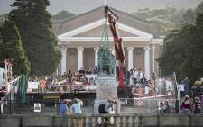 FILE: The statue of Cecil John Rhodes is being removed from UCT on 9 April 2015. Picture: Aletta Gardner/EWN