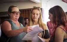 FILE: Matriculants receive their Matric results. Picture: EWN