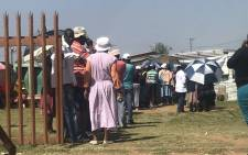 Voters queue for the Metsimaholo by-election in Free State on 29 November 2017. Picture: Clement Manyathela/EWN