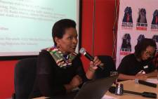 Advocacy Manager Matokgo Makutoane from the Soul City Institute briefing the media on progress made with the taxi industry. Picture: Katleho Sekhotho/EWN