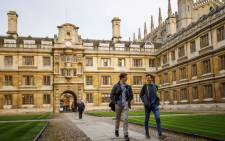 FILE: Students walk through Cambridge University in Cambridge, east of England. Picture: AFP