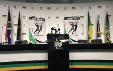 MKMVA and a group of former MK members have attempted to present a united front at a briefing at Luthuli House, only to see the event disrupted. Picture: Clement Manyathela/EWN
