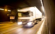 A truck makes its way through the South Bore of the Huguenot Tunnel. Sanral has proposed an upgrade to the tunnel and some of the roads on the N1 and the N2 which has been met with resistance from The City of Cape Town. Picture: Thomas Holder/EWN