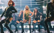A screengrab of Britney Spears, centre, during her performance at the Apple Music Festival in London. Picture: Twitter/@britneyspears.