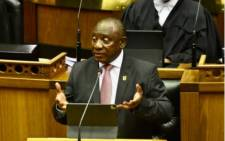 President Cyril Ramaphosa responds to Parliament's debate on the 2021 State of the Nation Address during a hybrid joint sitting of Parliament in Cape Town. Picture: GCIS