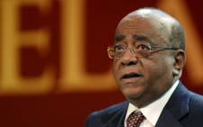 Sudanese-British billionaire entrepreneur Mo Ibrahim delivers a speech during the 11th Nelson Mandela Annual Lecture on August 17, 2013. Picture: AFP.