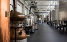 Inside the Rubbens distillery, which has switched from producing gin to disinfectant. Picture: Rubbens
