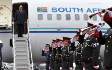 FILE: President Jacob Zuma arrives in Brussels Belgium for the SA EU Summit meeting. Picture: GCIS.