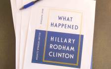 "A screengrab showing copies of Hillary Clinton's memoir called ""What Happened"". Picture: @HillaryClinton/Twitter."