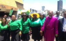 Scores of ANCWL's members have marched to the Union Buildings in defence of Zuma's dignity saying artists must stop using the president to gain popularity. Picture: Mia Lindeque/EWN.