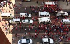 EFF marchers make their way through central Pretoria. Picture: Barry Bateman/EWN