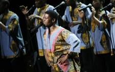 "Ladysmith Black Mambazo performs Paul Simon's ""Under African Skies"" at BAM on April 9, 2008 in New York City.  Picture: AFP."