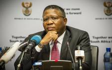 Sports and Recreation Minister Fikile Mbalula fields questions on allegations that South Africa bribed Fifa to host the 2010 World Cup. Picture: Thomas Holder/EWN
