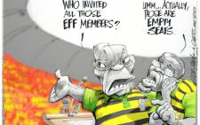 EWN CARTOON: Zuma Sees Red
