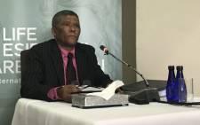 Major-General Charles Johnson appears at the Esidimeni arbitration hearing on 26 October, 2017. Picture: Masego Rahlaga/EWN